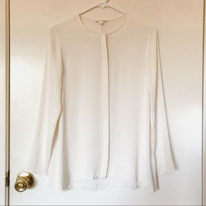 COS Pearl White Silk Blouse